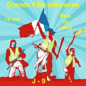 Atelier Chanson Fanfare de la Compagnie Jolie Môme - GRANDE FÊTE CITOYENNE des Gilets Jaunes - dimanche 19 mai - 14h - Bois de Lihus (60) @ Bois de Lihus