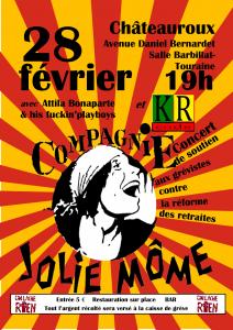 À contre-courant - Soutien grévistes de Châteauroux - vendredi 28 février - 19h @ Salle Barbillat-Touraine