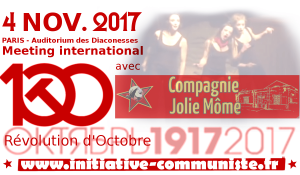 À contre-courant - Meeting du centenaire de la Révolution d'octobre du PRCF - 4 novembre - 17h30 @ Auditiorium des Diaconesses | Paris | Île-de-France | France