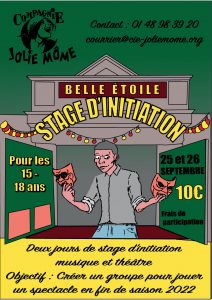 Stage d'initiation théâtre ado - samedi 25 et dimanche 26 septembre - 14h à 19h