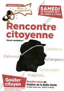 Goûter Citoyen - PC et Collectif Citoyen de La Plaine  - 25 février - 15h30 @ La Belle Etoile | Saint-Denis | Île-de-France | France