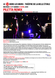 Festival Et Moi Alors ? - Piletta Remix - Mercredi 10 avril - 15h @ La Belle Étoile
