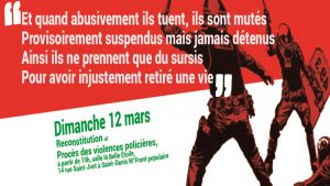 Procès des violences policières - 12 mars - 15h @ La Belle Etoile | Saint-Denis | Île-de-France | France
