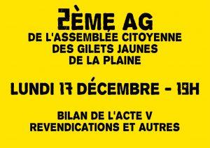2ème AG de l'Assemblée Citoyenne des Gilets Jaunes de La Plaine @ La Belle Étoile