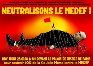 Loïc et le coup imaginaire - Le procès contre le Medef - 25 janvier - 8h @ TGI de Paris | Paris-1ER-Arrondissement | Île-de-France | France