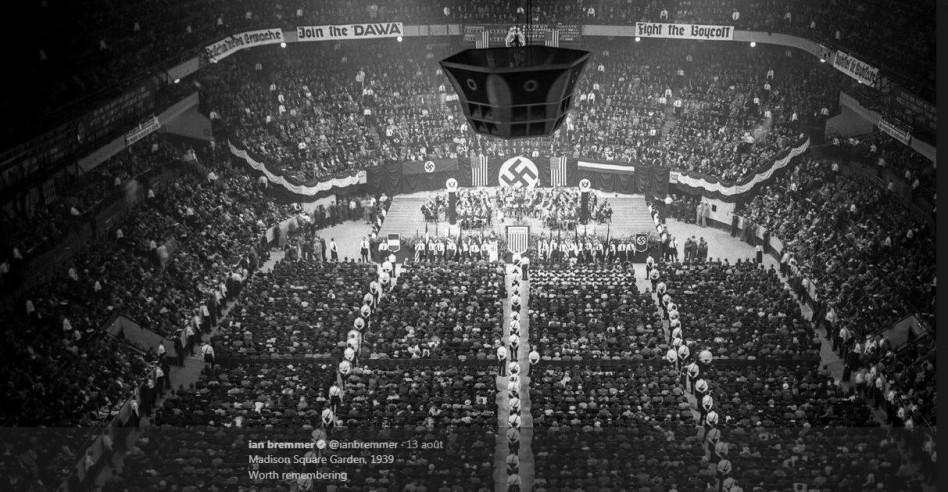 """Résultat de recherche d'images pour """"sympathisants nazis au Madison Square Garden"""""""