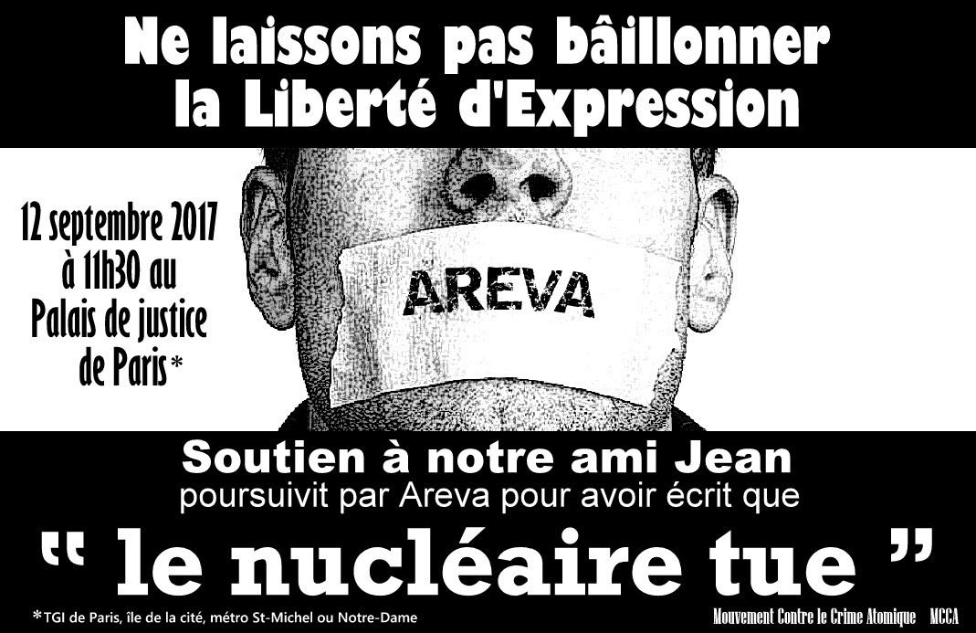 12 septembre 2017 – Procès d\'Areva contre un militant antinucléaire ...