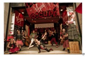 Avec les salariés de Virgin - Juin 2013.